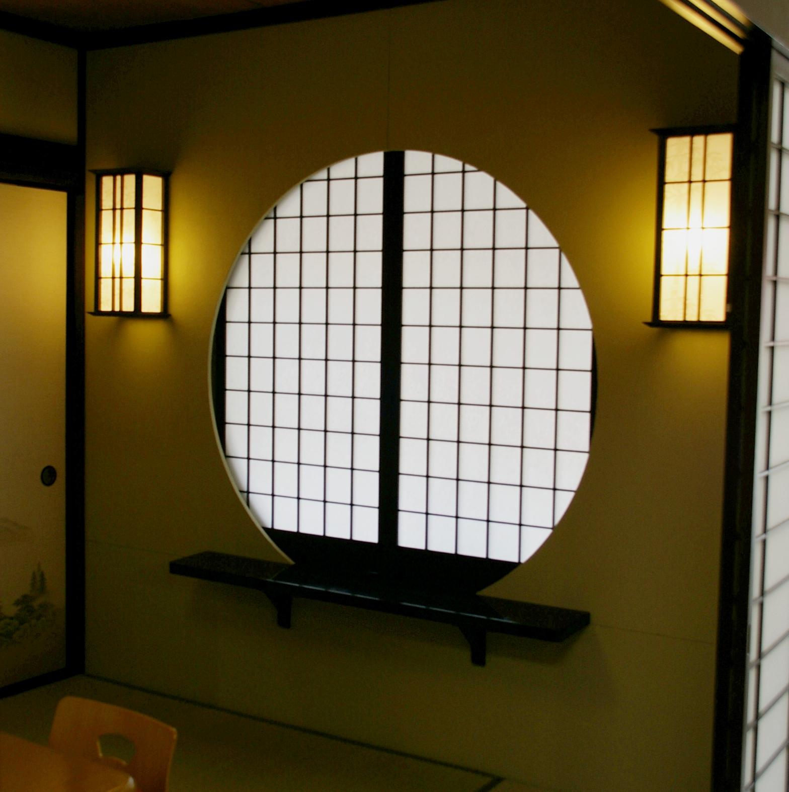 Round Sliding Door Design: Japanese Interior Supplies